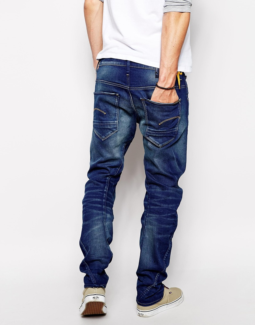 star raw g star jeans arc 3d slim fit firro medium aged in blue for. Black Bedroom Furniture Sets. Home Design Ideas