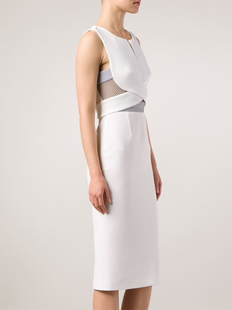 4300a4821db Lyst - Roland Mouret Betley Dress in White