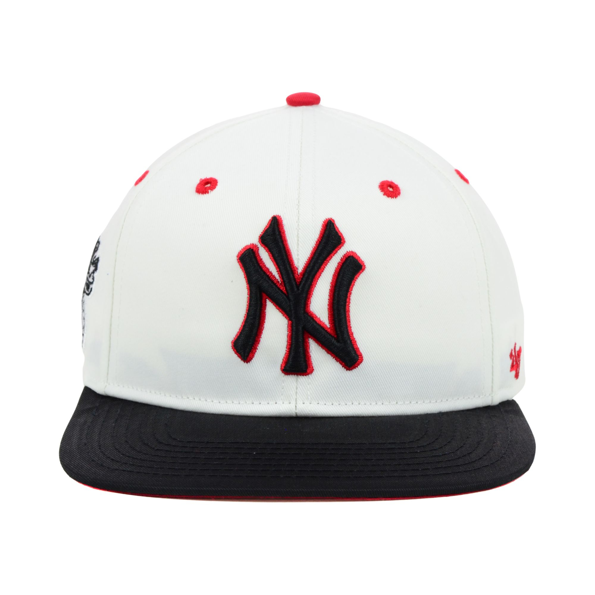 6a67a8f7e53 Lyst - 47 Brand New York Yankees Mlb Red Under Snapback Cap in Black ...