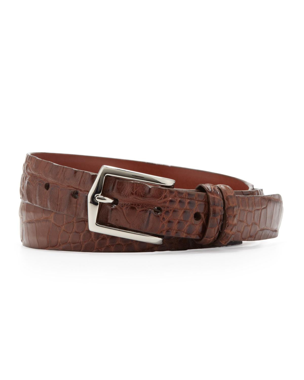 w kleinberg hornback alligator belt in brown for lyst