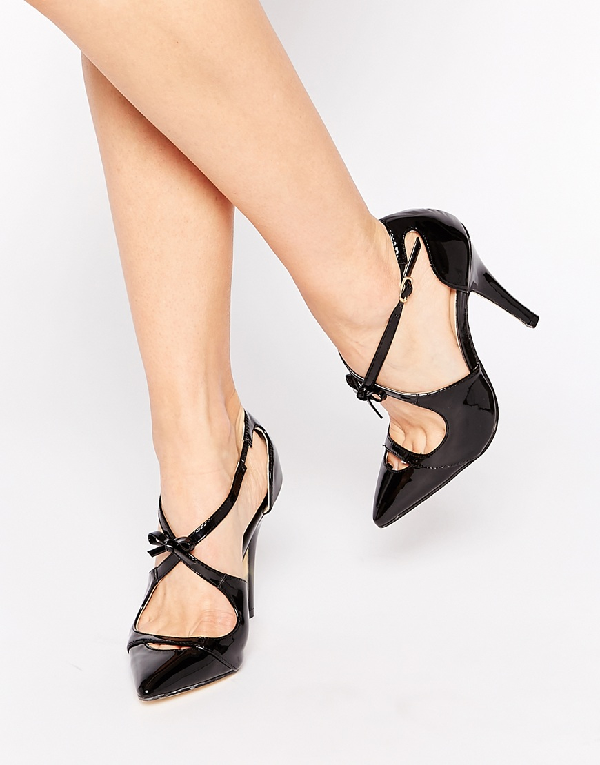 High Heels - Black patent London Rebel yFlGr