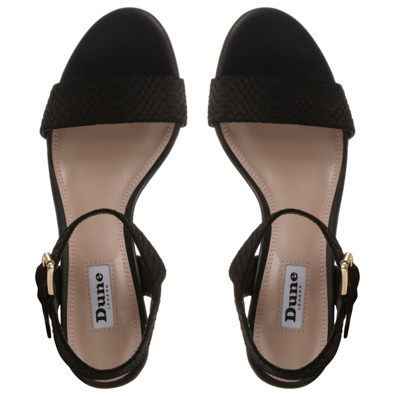 5797b78b6e348e Dune Marcia Jewelled Block Heel Sandals in Black - Lyst