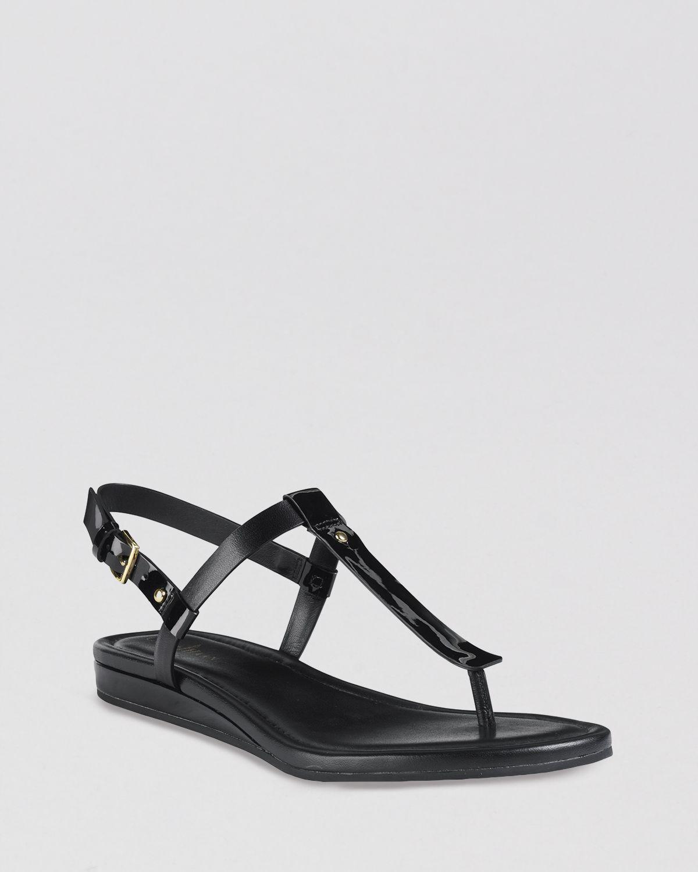 5550b5bfc793 Lyst - Cole Haan Flat Thong Sandals Boardwalk in Black