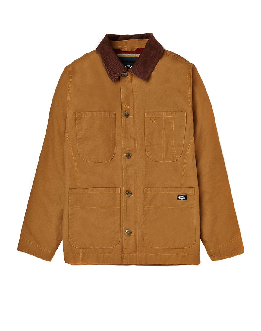 Dickies thornton jacket in brown for men lyst for Dickey shirts clothing co