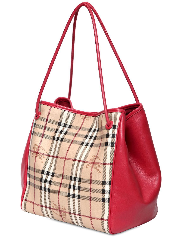 Burberry Canterbury Haymarket Check Shoulder Bag In