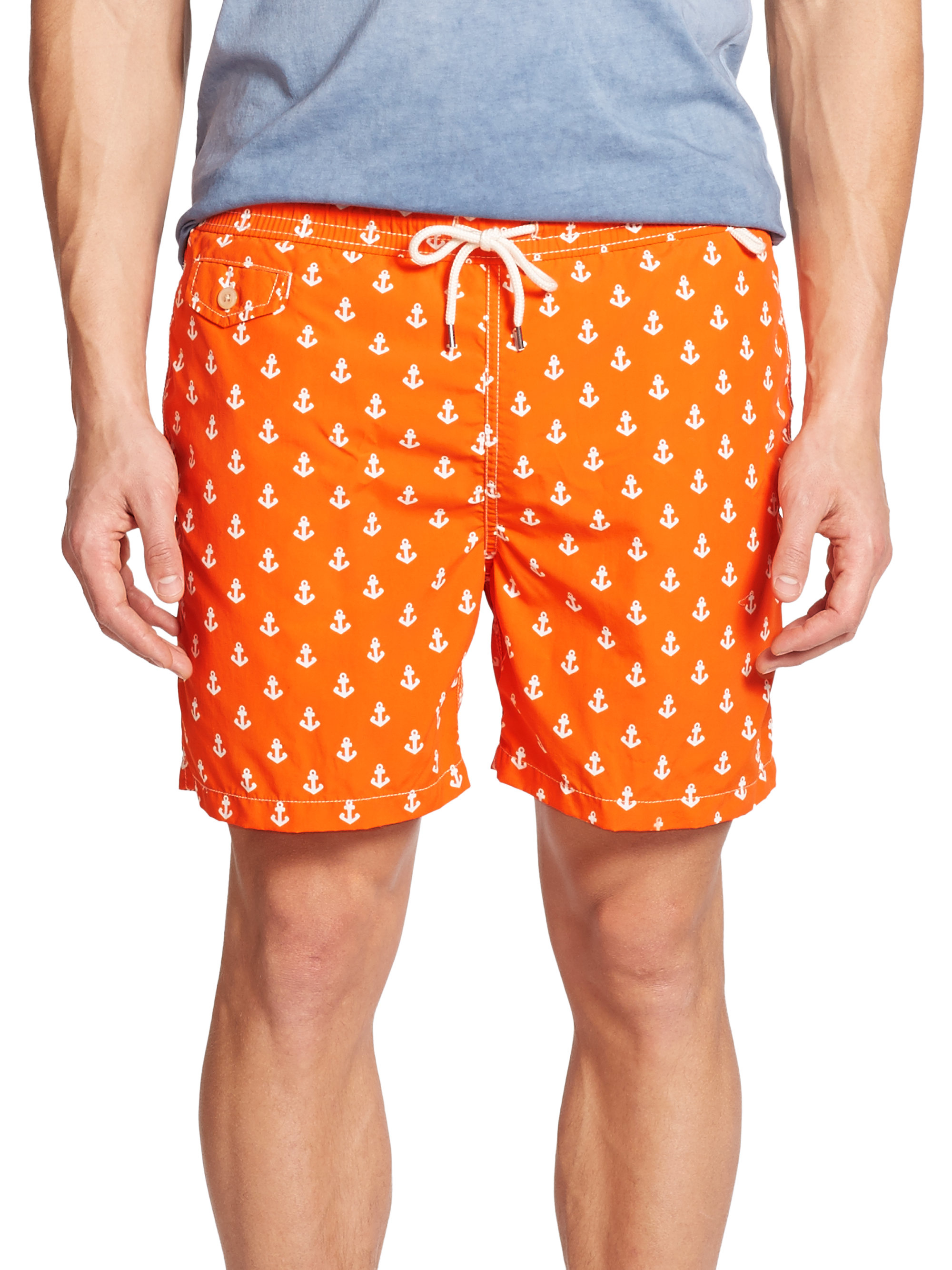 b2621d515b ... ireland greece lyst polo ralph lauren polka dot swim shorts in orange  for men 1f73d 87465