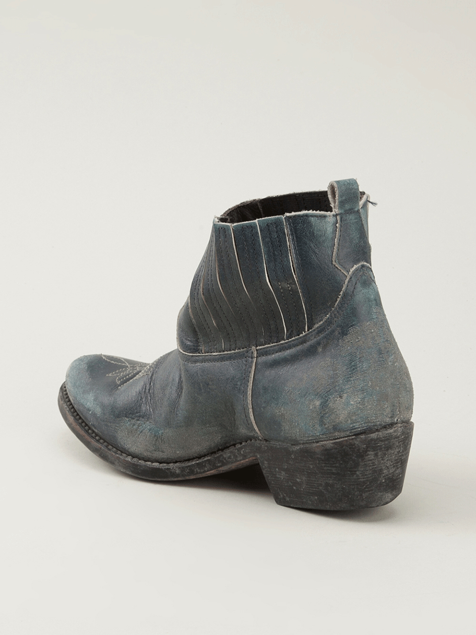 Golden goose deluxe brand Crosby Ankle Boot in Blue | Lyst