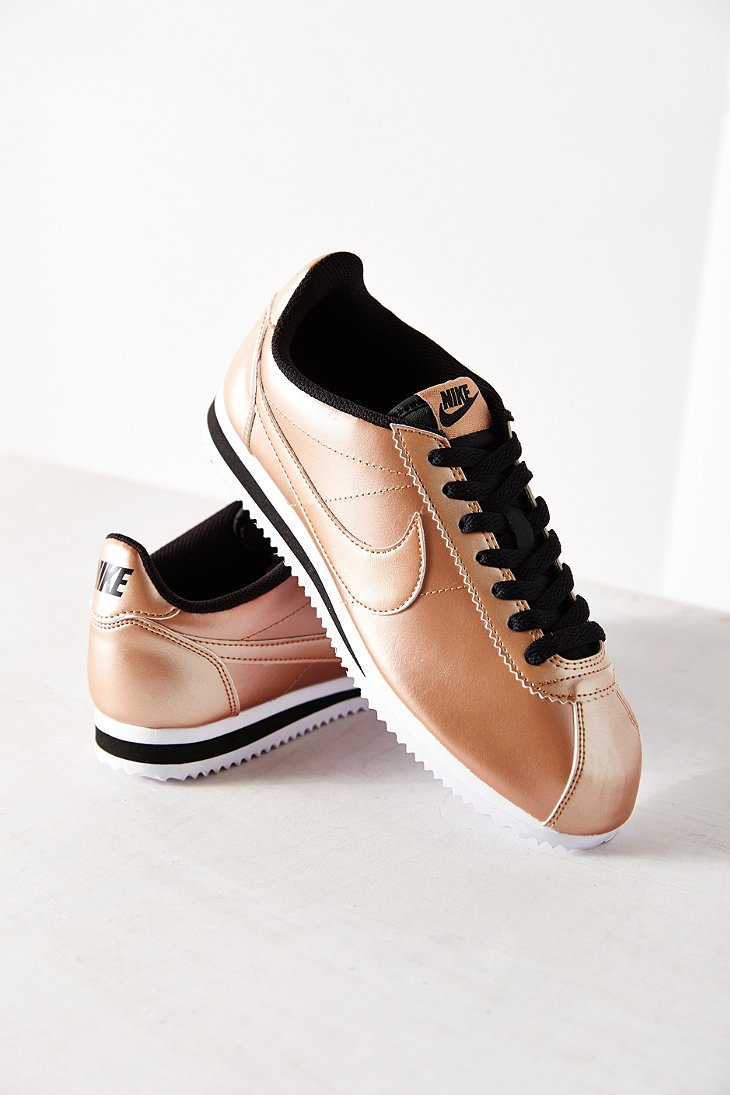 official photos d621c 96784 Lyst - Nike Womens Classic Cortez Leather Sneaker in Metalli
