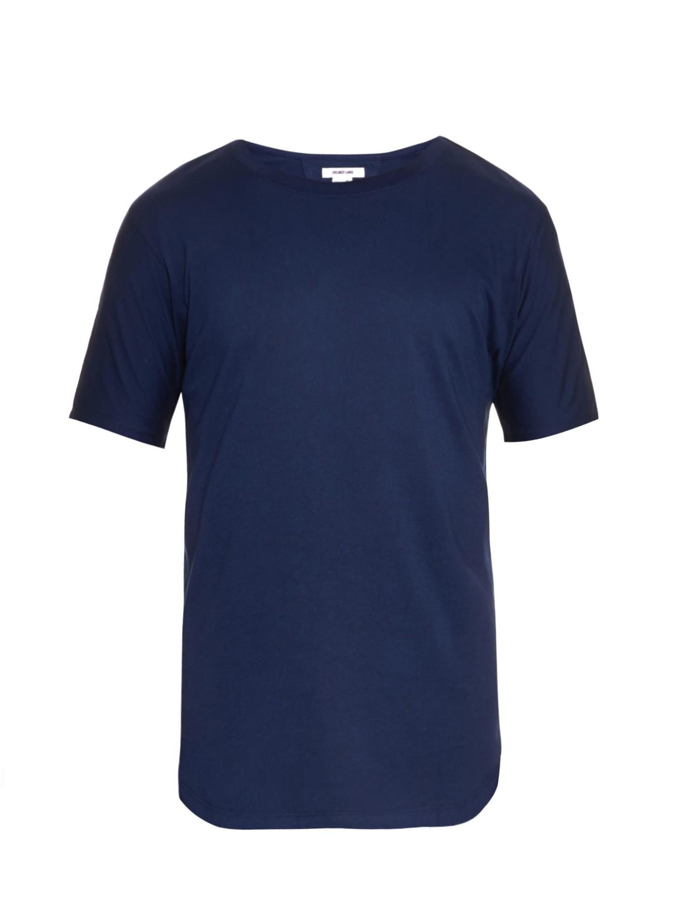 helmut lang crew neck jersey t shirt in blue for men lyst. Black Bedroom Furniture Sets. Home Design Ideas
