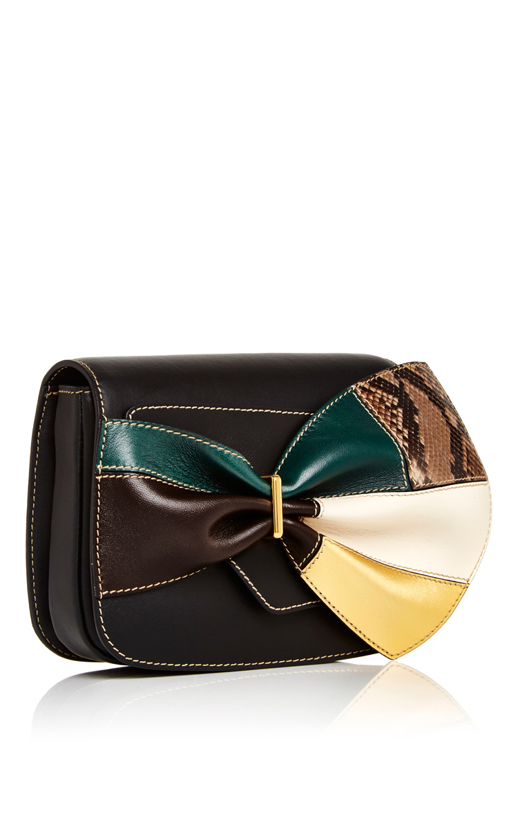 645884c79f31 Marni Leather Belt Bag With Multicolored Bow in Black - Lyst