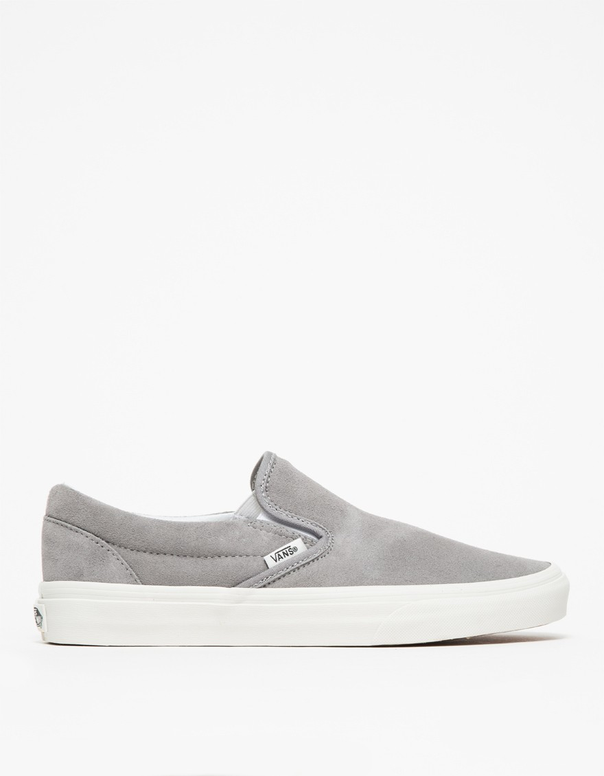 grey slip on vans womens