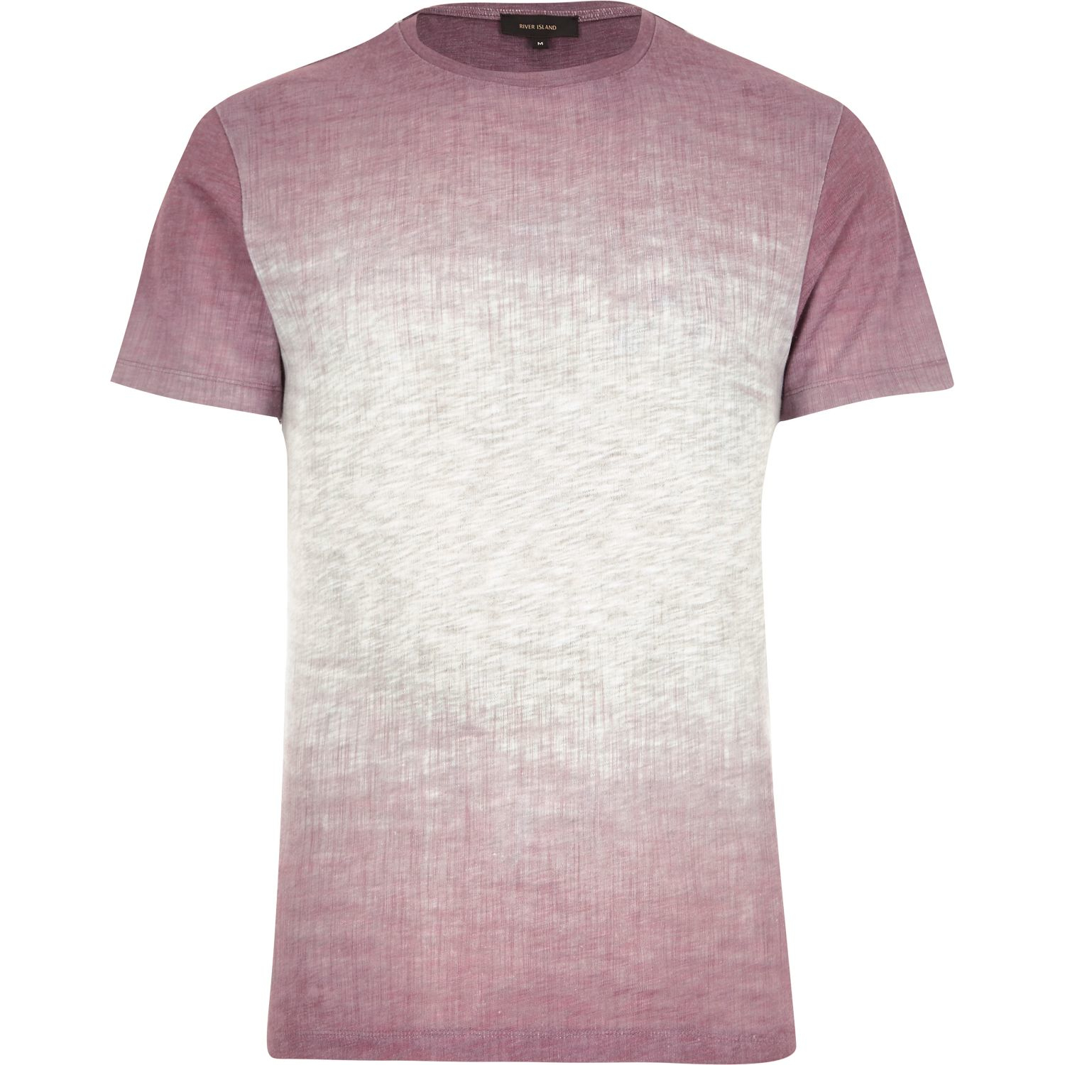 Lyst river island pink textured faded t shirt in pink for Faded color t shirts