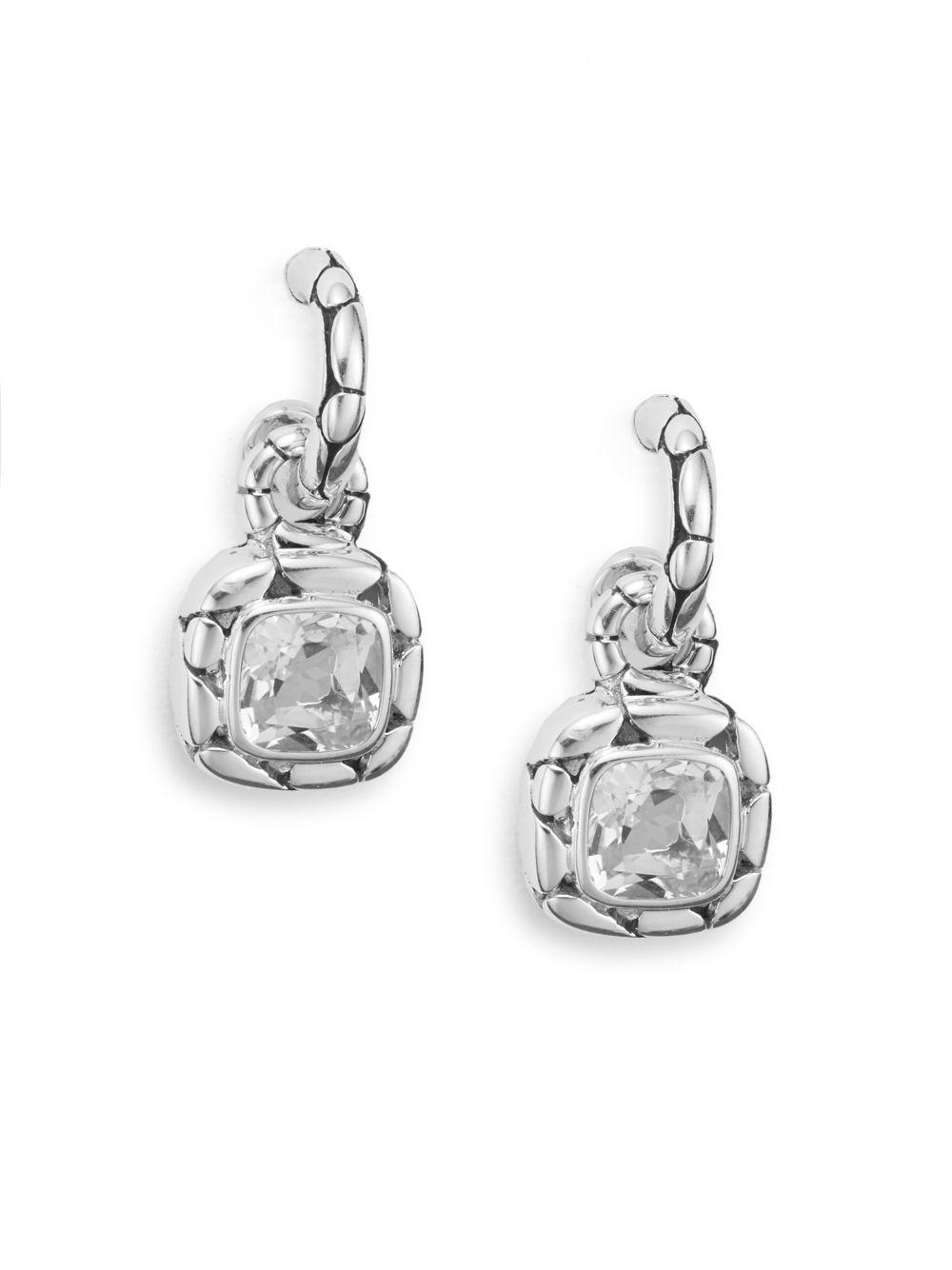 John hardy kali white topaz sterling silver drop for John hardy jewelry earrings