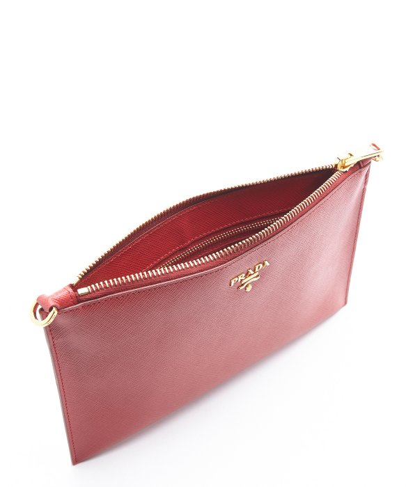 prada handbags cheap prices - Prada Red Leather Zip Top Convertible Clutch in Red | Lyst