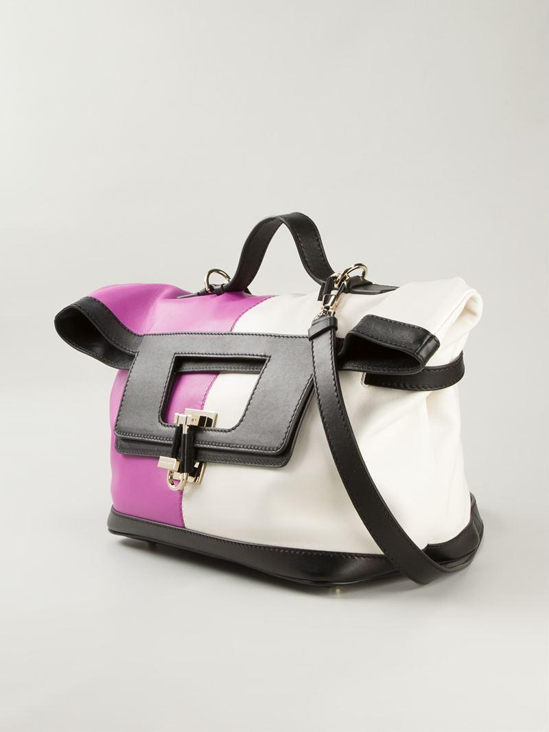 8c183bfd3dc Lyst - Emanuel Ungaro Panelled Leather Shoulder Bag