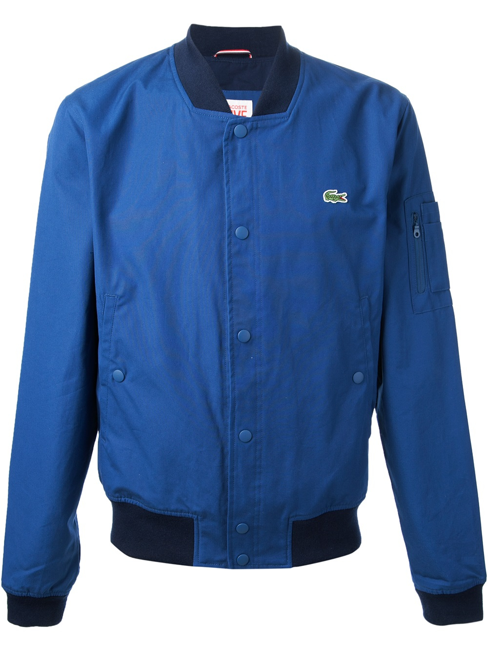 lacoste l ive classic bomber jacket in blue for men lyst. Black Bedroom Furniture Sets. Home Design Ideas