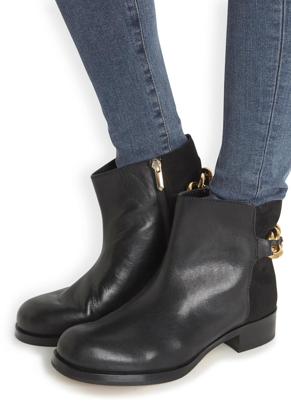 644e7322d92af5 Sam Edelman Chester Black Leather Ankle Boots in Black - Lyst