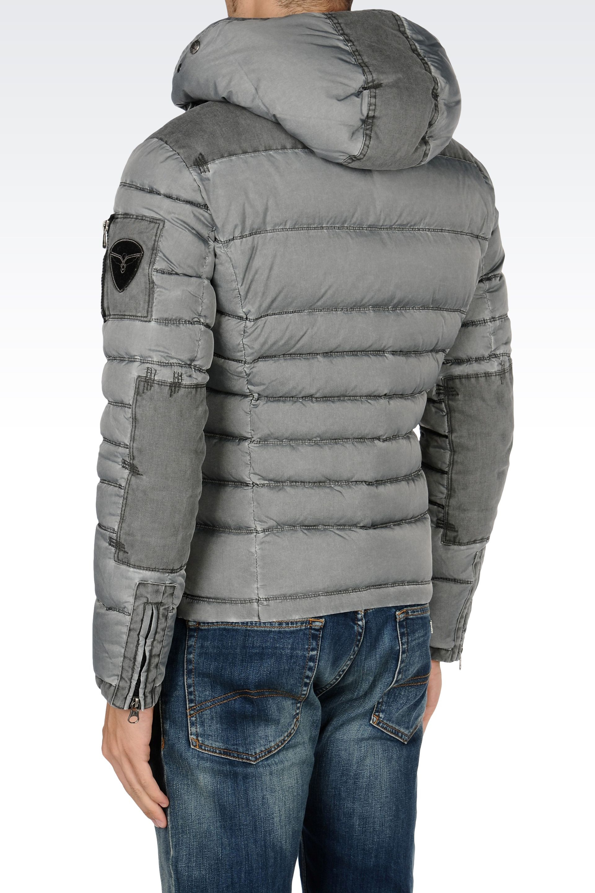 1391e2819540 Lyst - Armani Jeans Down Coat in Gray for Men