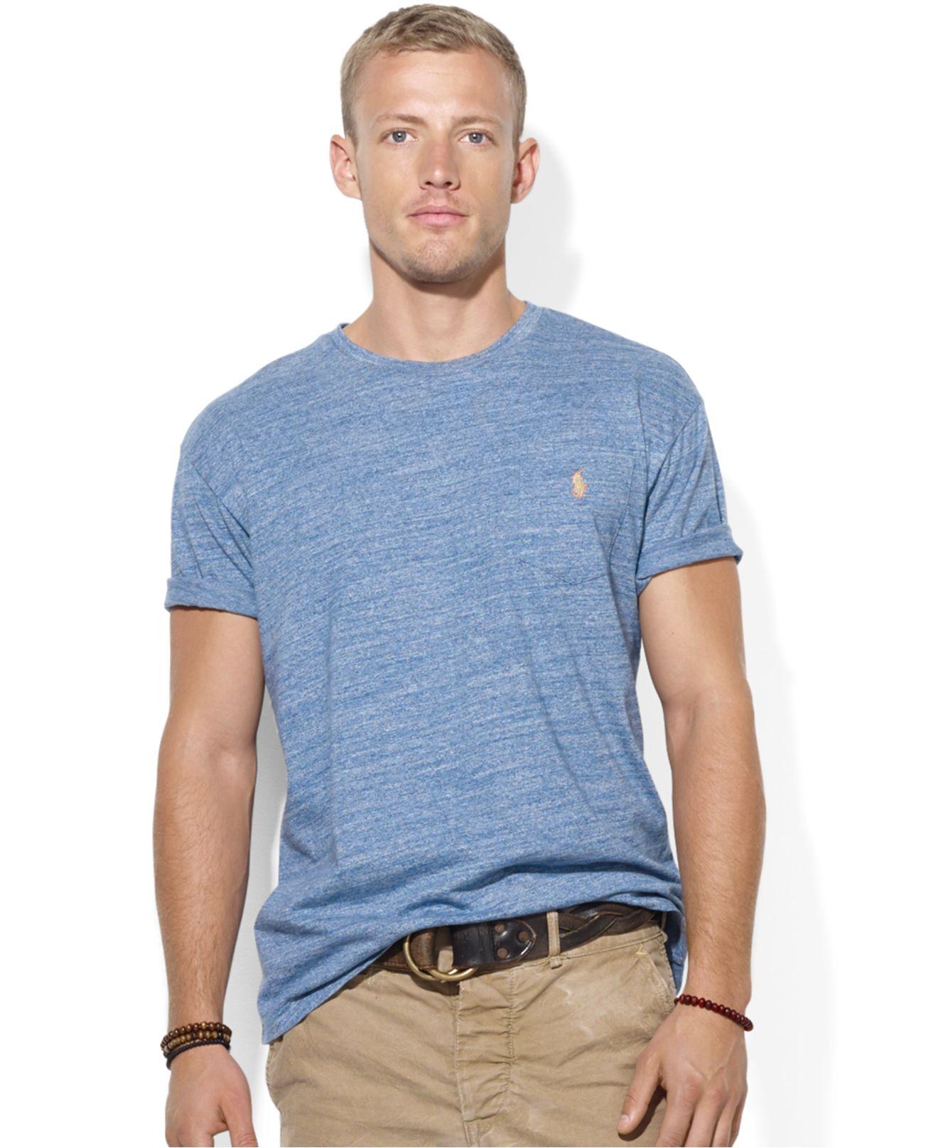 Mens Polo Crew Neck T Shirts
