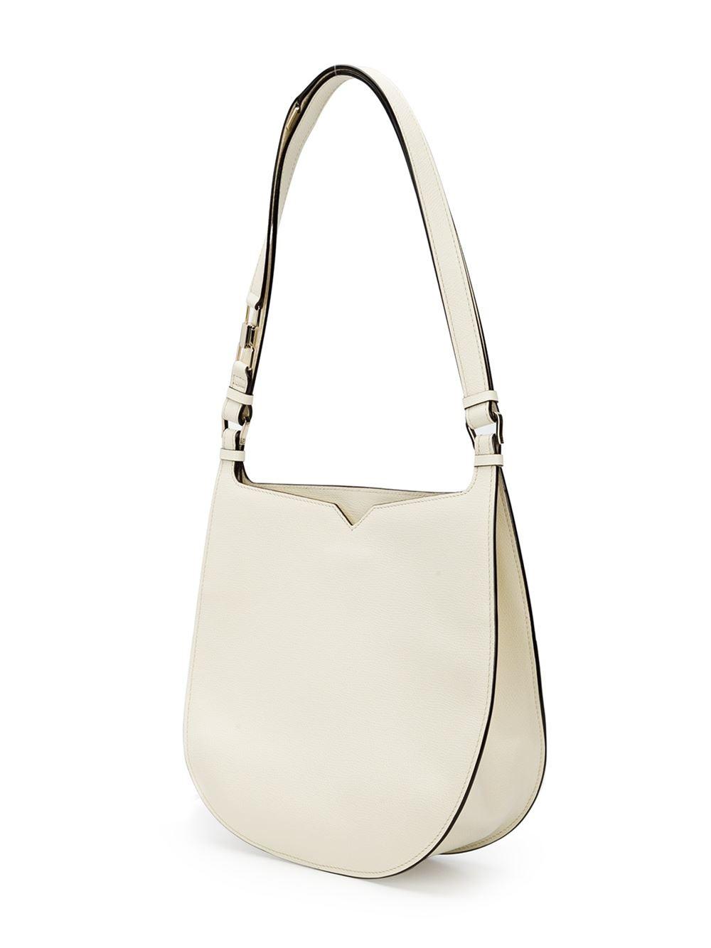 Lyst Valextra Weekend Hobo Shoulder Bag In White