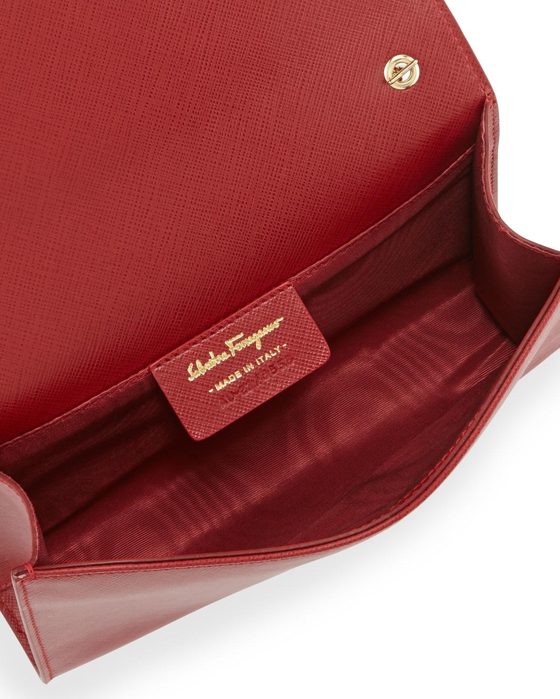 0b6aee1b5267 Lyst - Ferragamo Miss Vara Bow Clip Crossbody Bag in Red