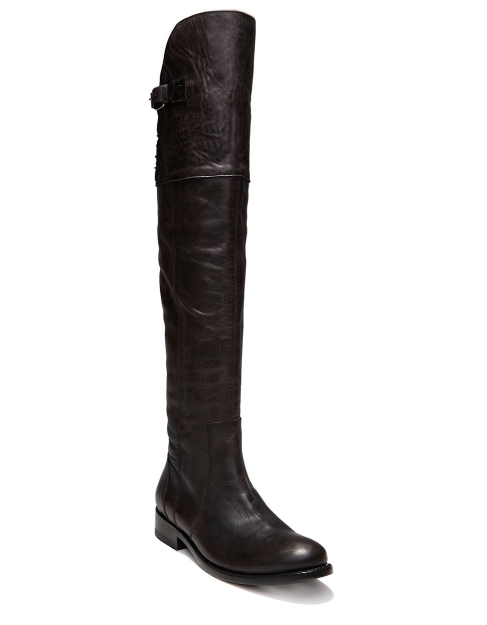 dolce vita leroux leather knee high boots in black lyst