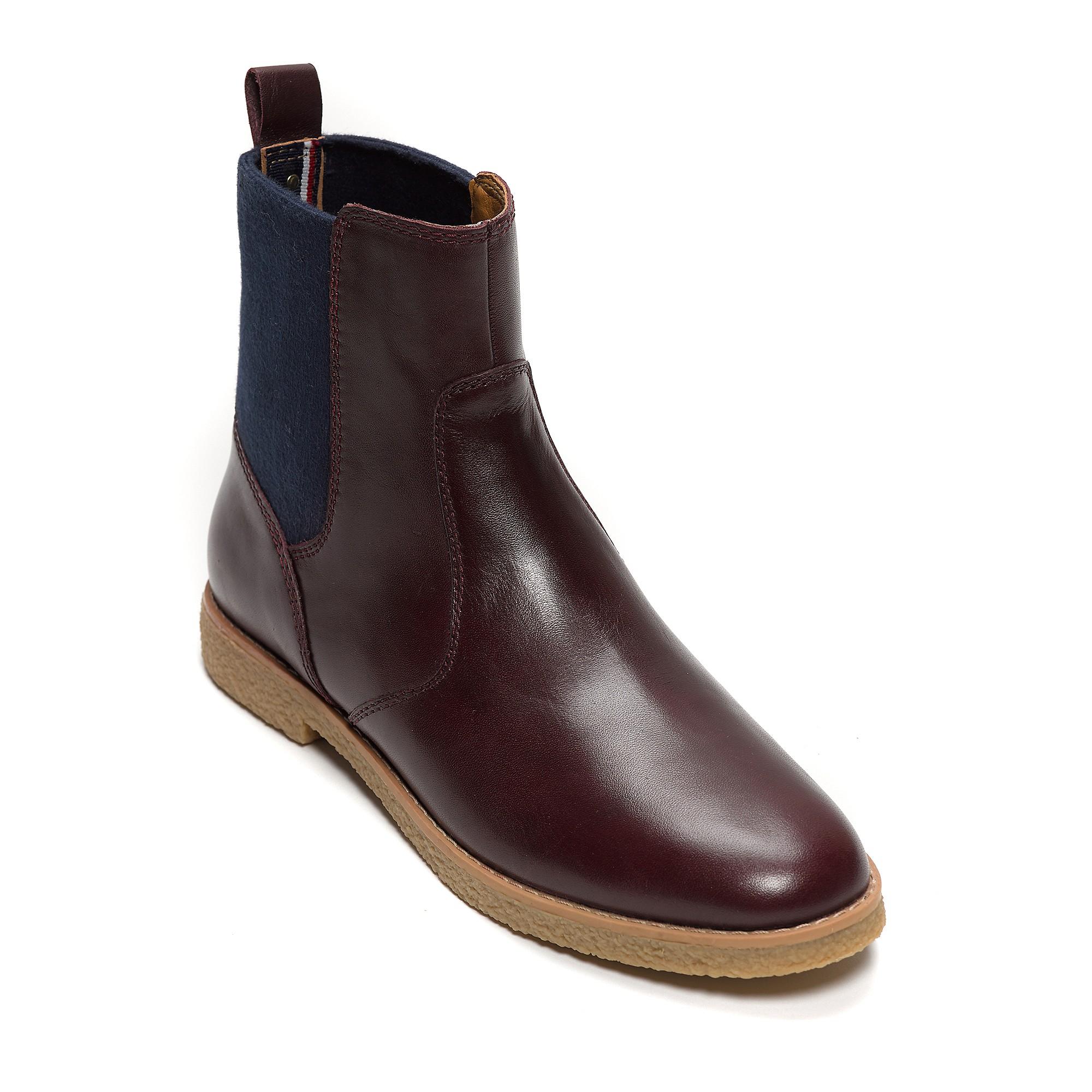 tommy hilfiger suede shoe boot in brown baked plum marine lyst. Black Bedroom Furniture Sets. Home Design Ideas