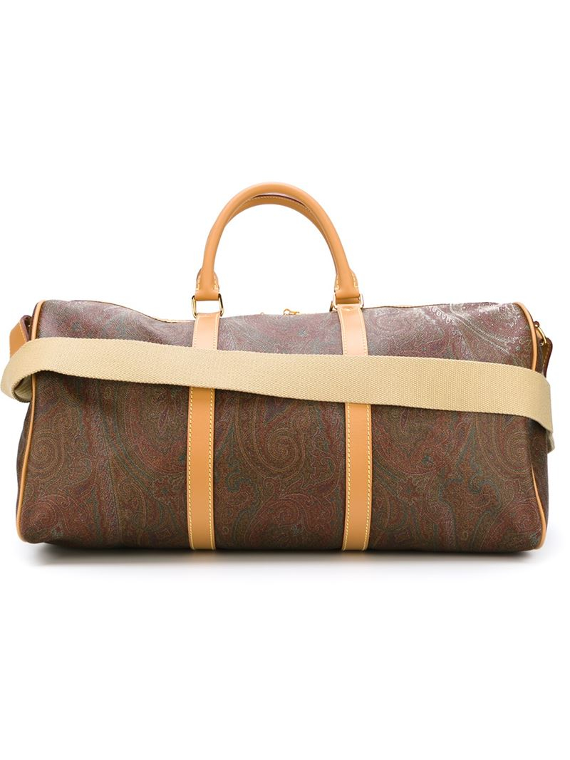 paisley print holdall - Brown Etro