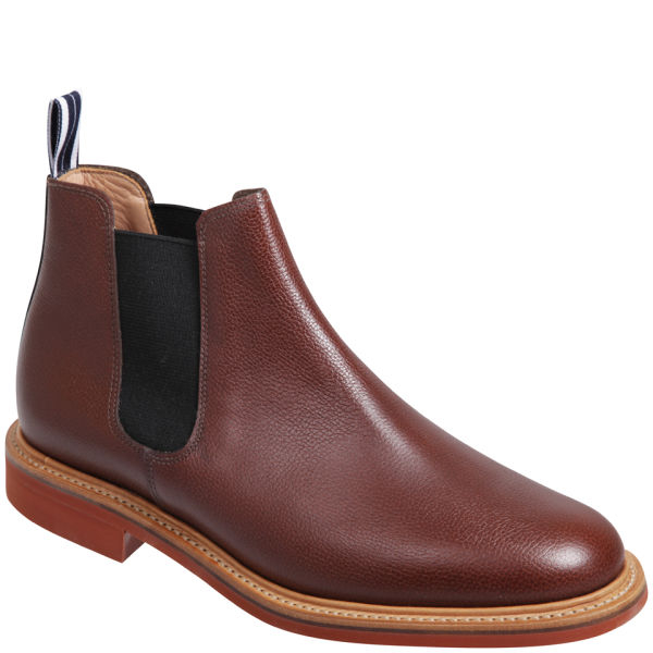 oliver spencer mens leather made in england chelsea boots in brown for. Black Bedroom Furniture Sets. Home Design Ideas