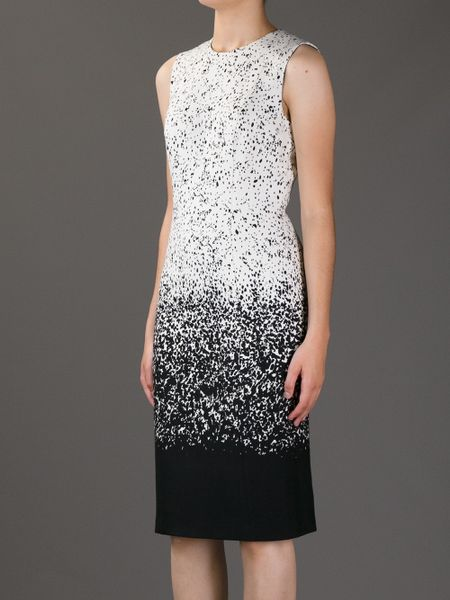 Burberry Prorsum D 233 Grad 233 Knit Dress In White Black Lyst
