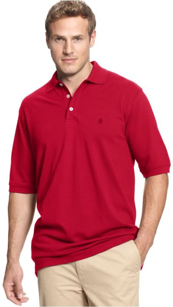 Izod Red Big And Tall Short Sleeve Pique Polo For Men Lyst