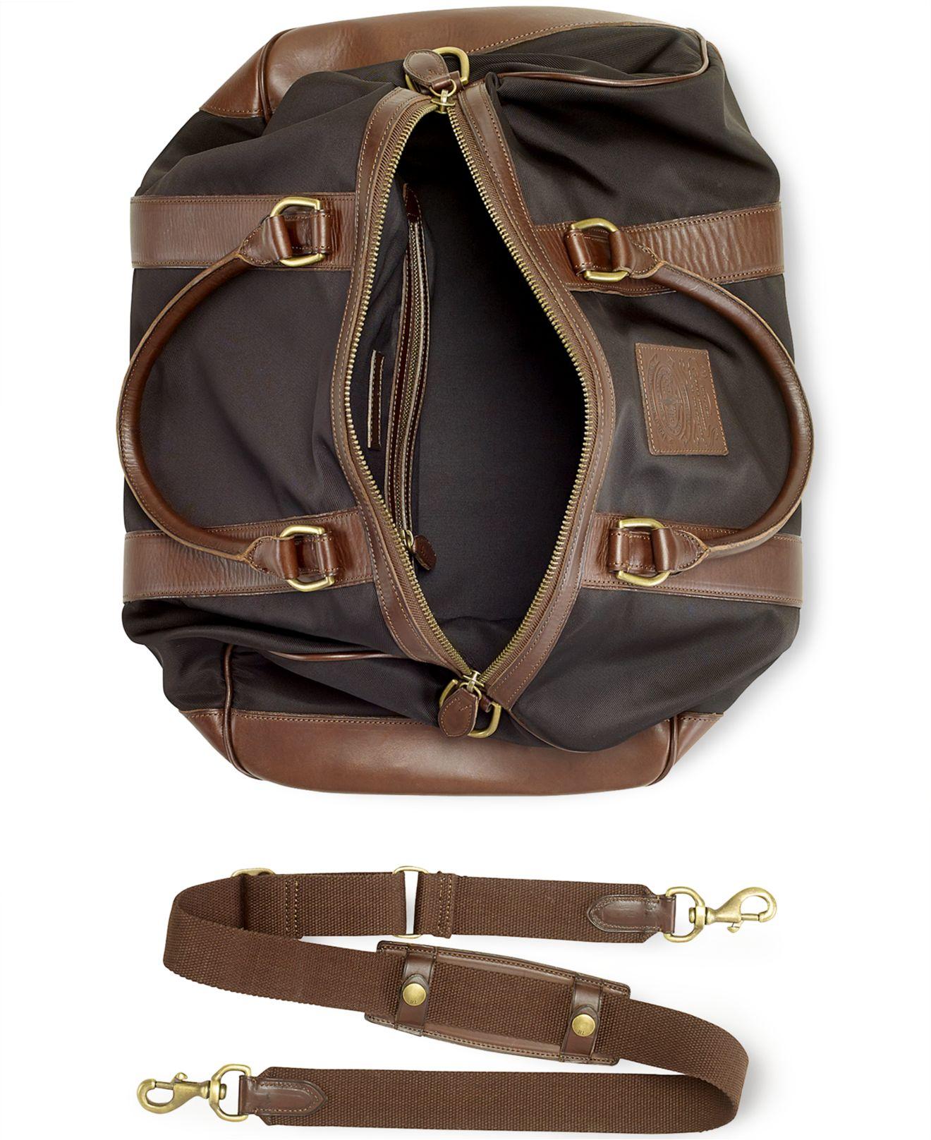 a4c2b426f027 ... purchase lyst polo ralph lauren medium nylon duffel bag in black for men  46bcd a2653