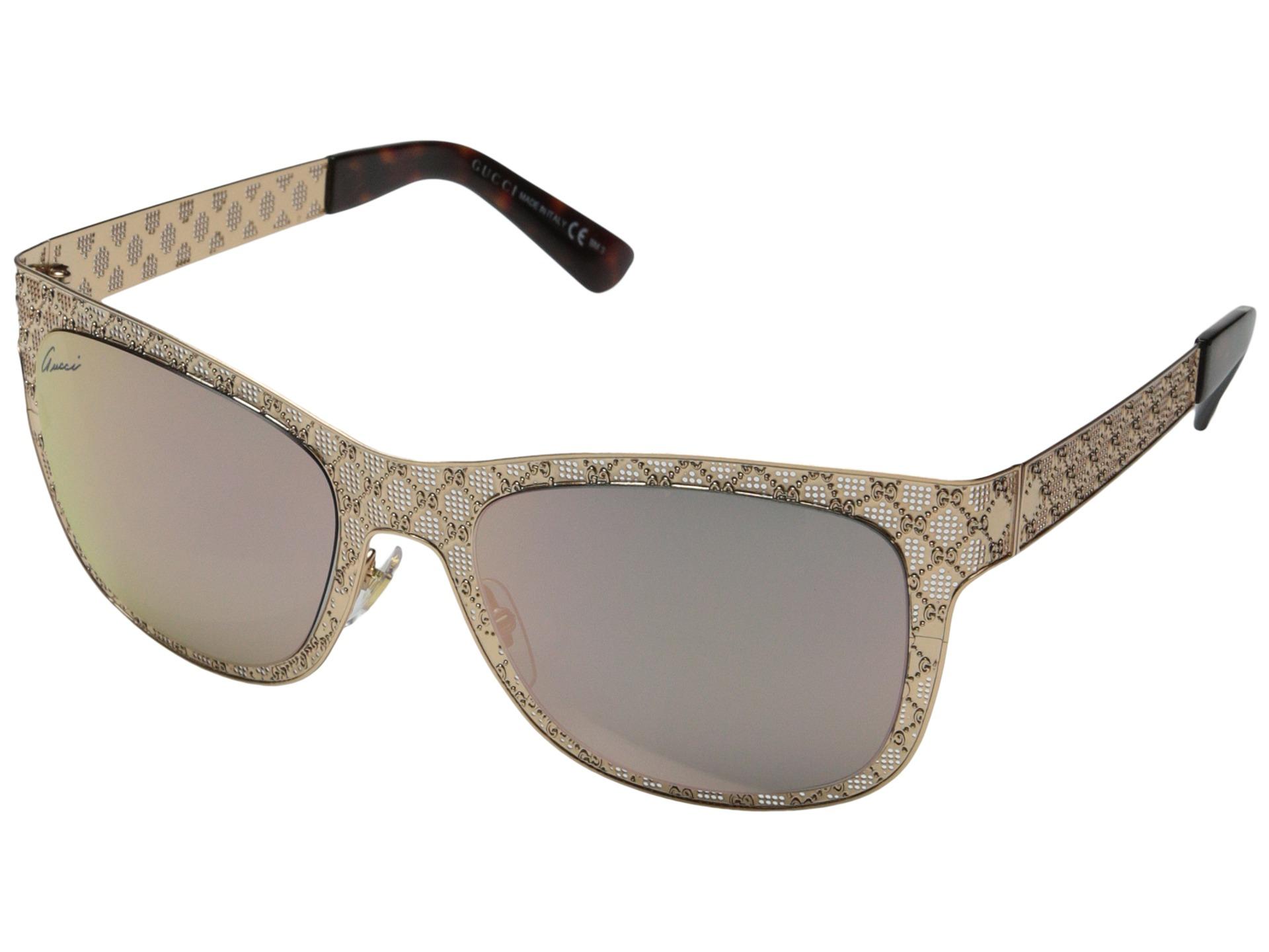 ca8cf898d32 Lyst - Gucci Men s Women s Unisex Aviator Sunglasses 1287 s Silver ...