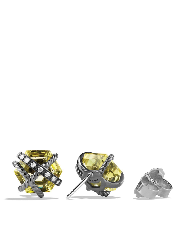 david yurman cable wrap earrings with lemon citrine