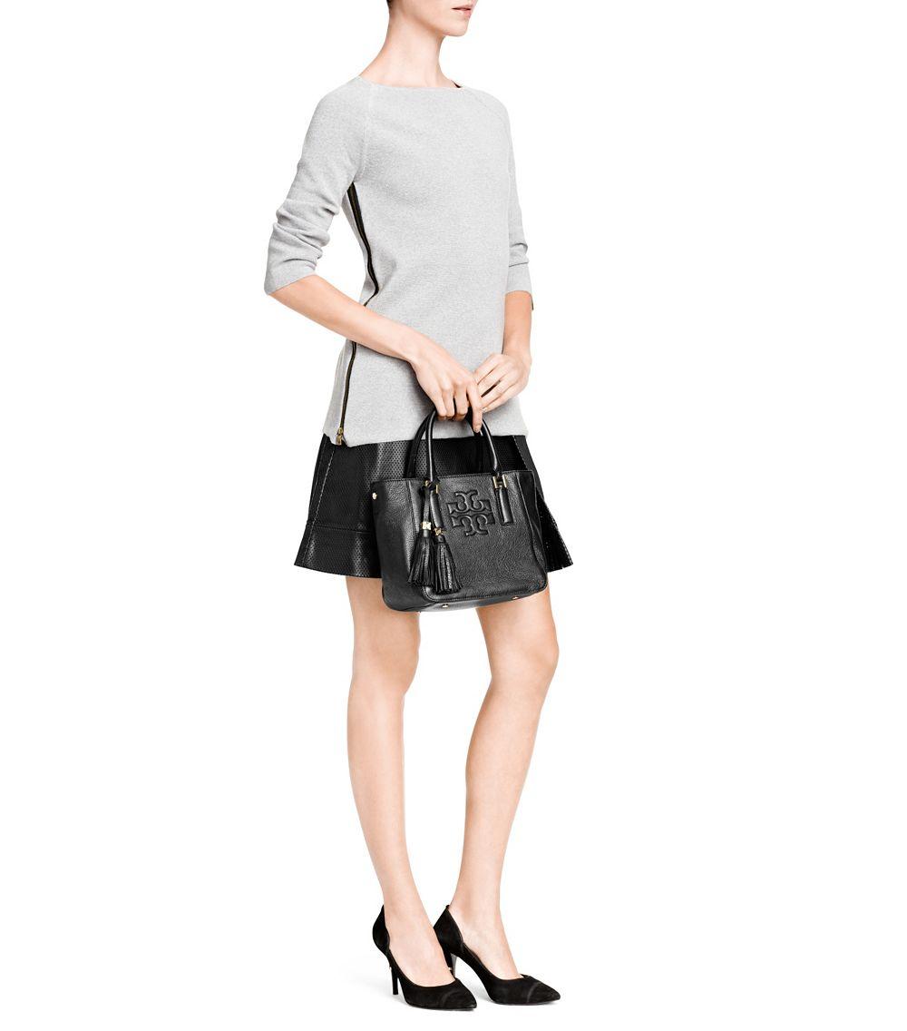 0268403bb0c3 Lyst - Tory Burch Thea Mini Bucket Bag in Black