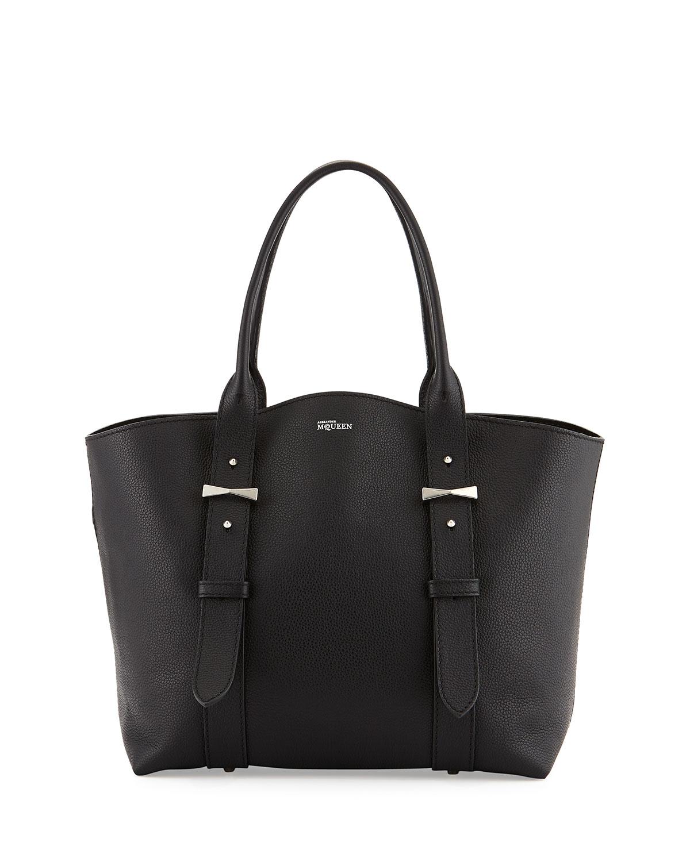 Lyst - Alexander Mcqueen Legend Pebbled Small Shopper Bag ...