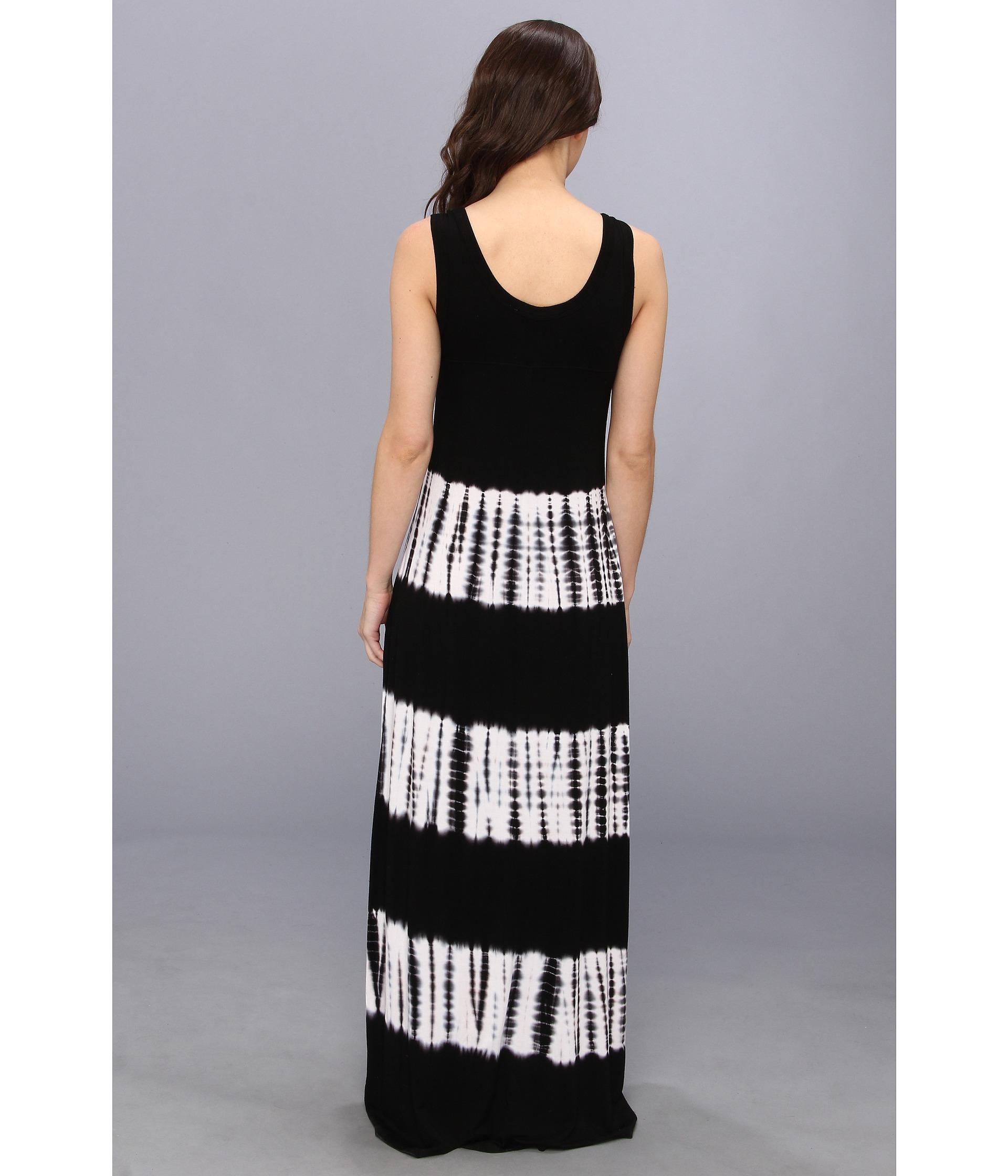 Karen kane Tie Dye Maxi Tank Dress in Black | Lyst