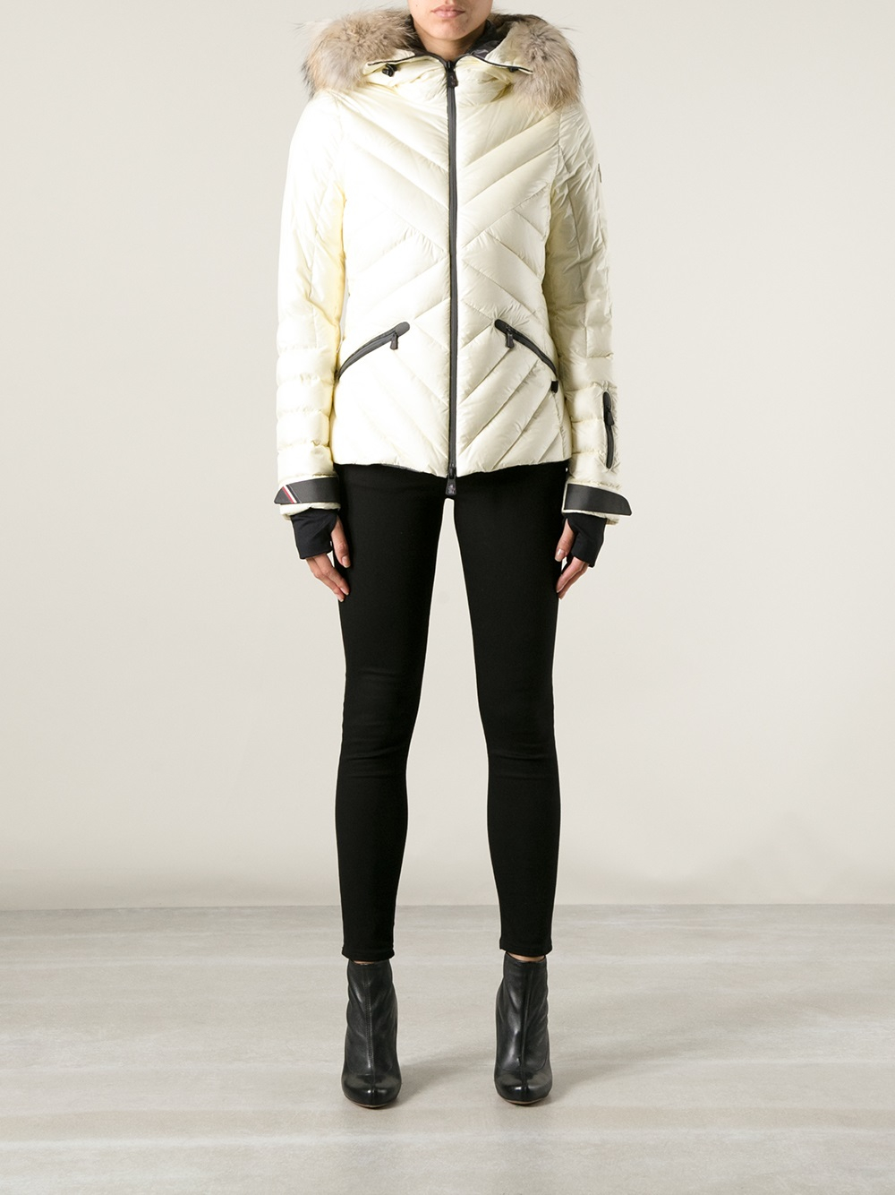 moncler white ski jacket