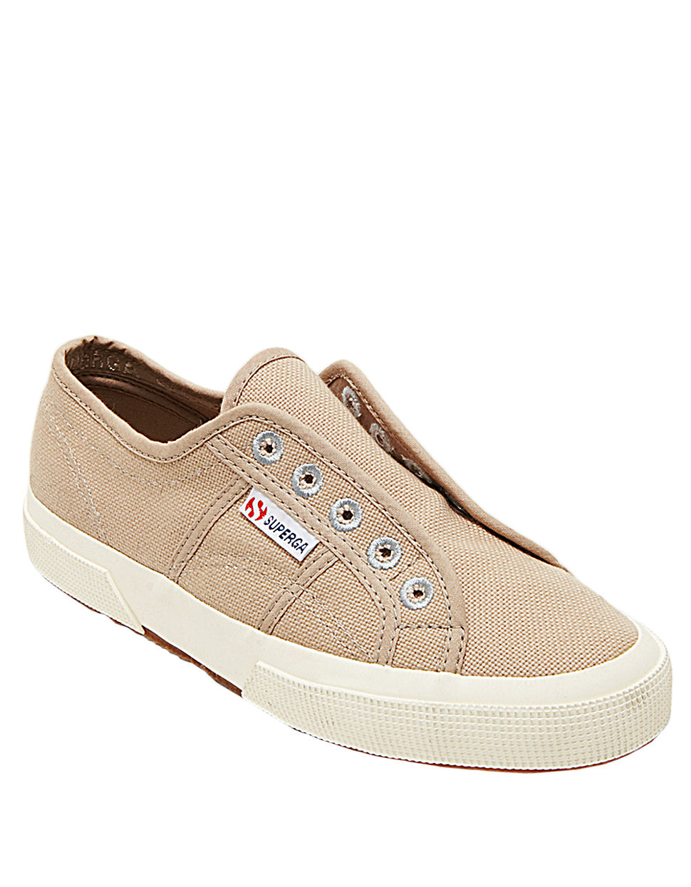 superga cotu slip on tennis shoes in beige wheat lyst