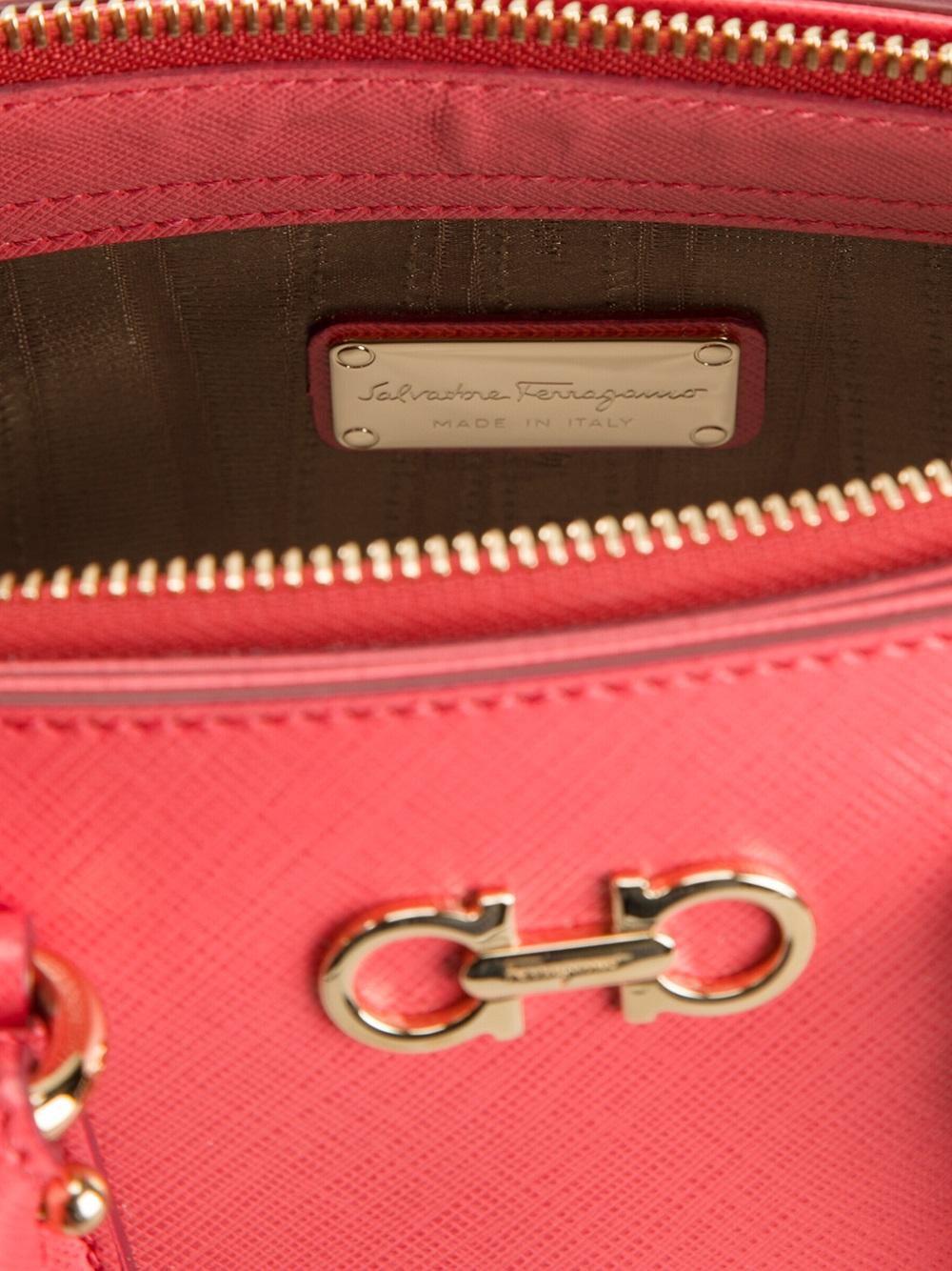 Lyst - Ferragamo Batik Cross Body Bag in Pink 3e23ff7cfa69a