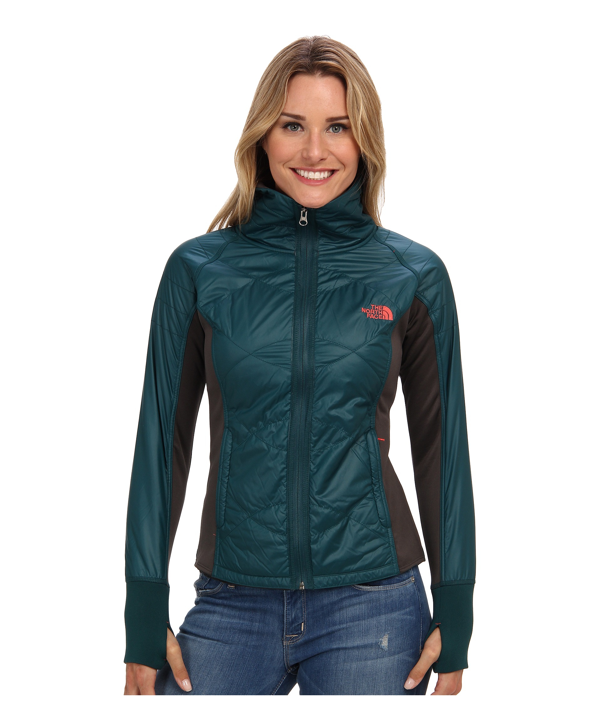 The North Face Vidali Hybrid Jacket In Green Lyst