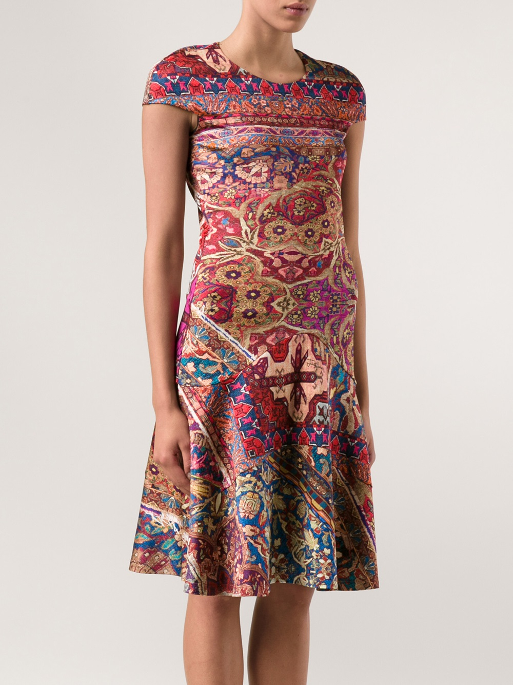 Just Cavalli Persian Print Dress In Red Lyst