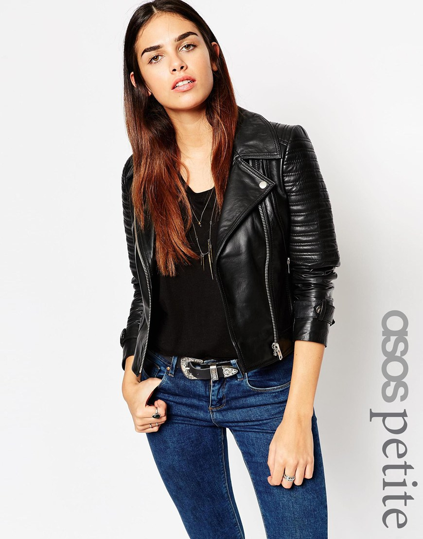 Petite Black Leather Jacket