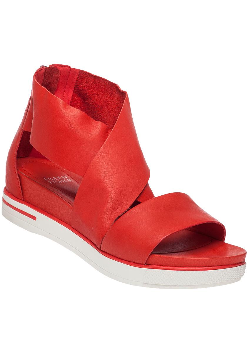 Lyst Eileen Fisher Sport Platform Sandals In Red