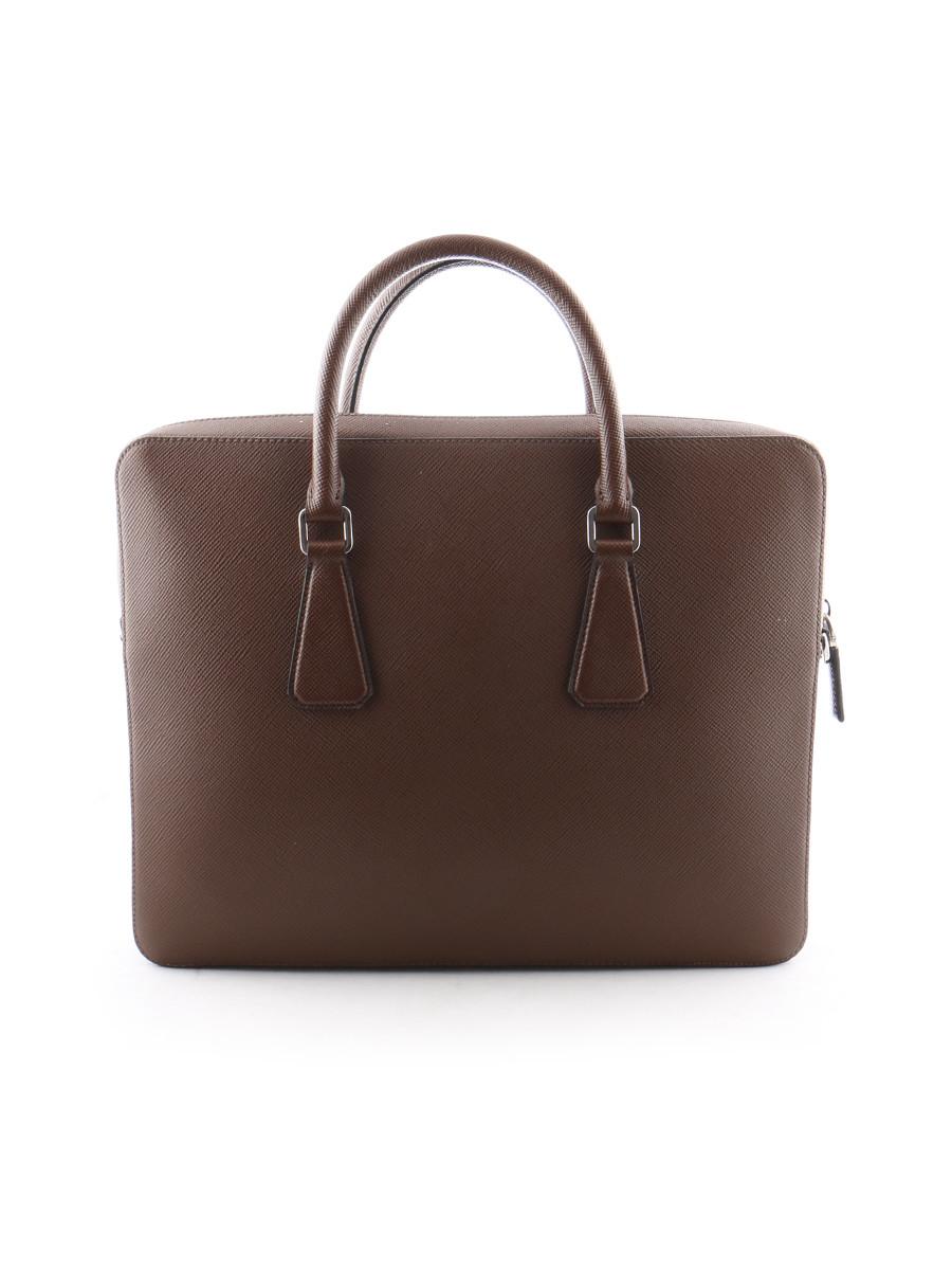 Prada Mens Bag in Brown for Men | Lyst