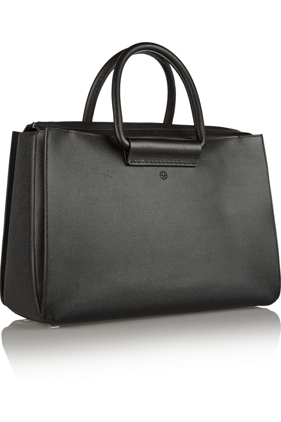 The Row Classic 5 Pebbled Leather Tote In Black Lyst