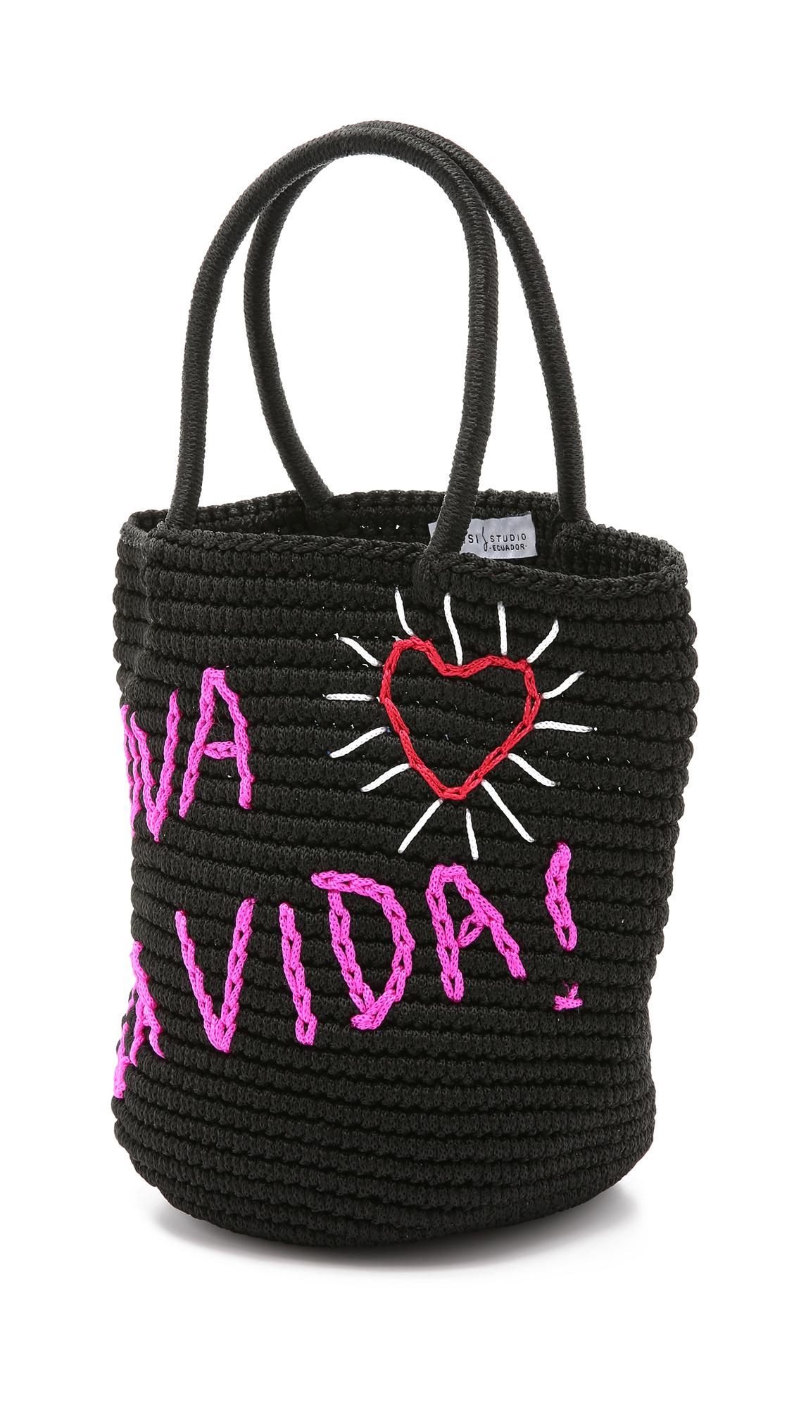 VIDA Tote Bag - YELLOWBLACK by VIDA IBvnLM