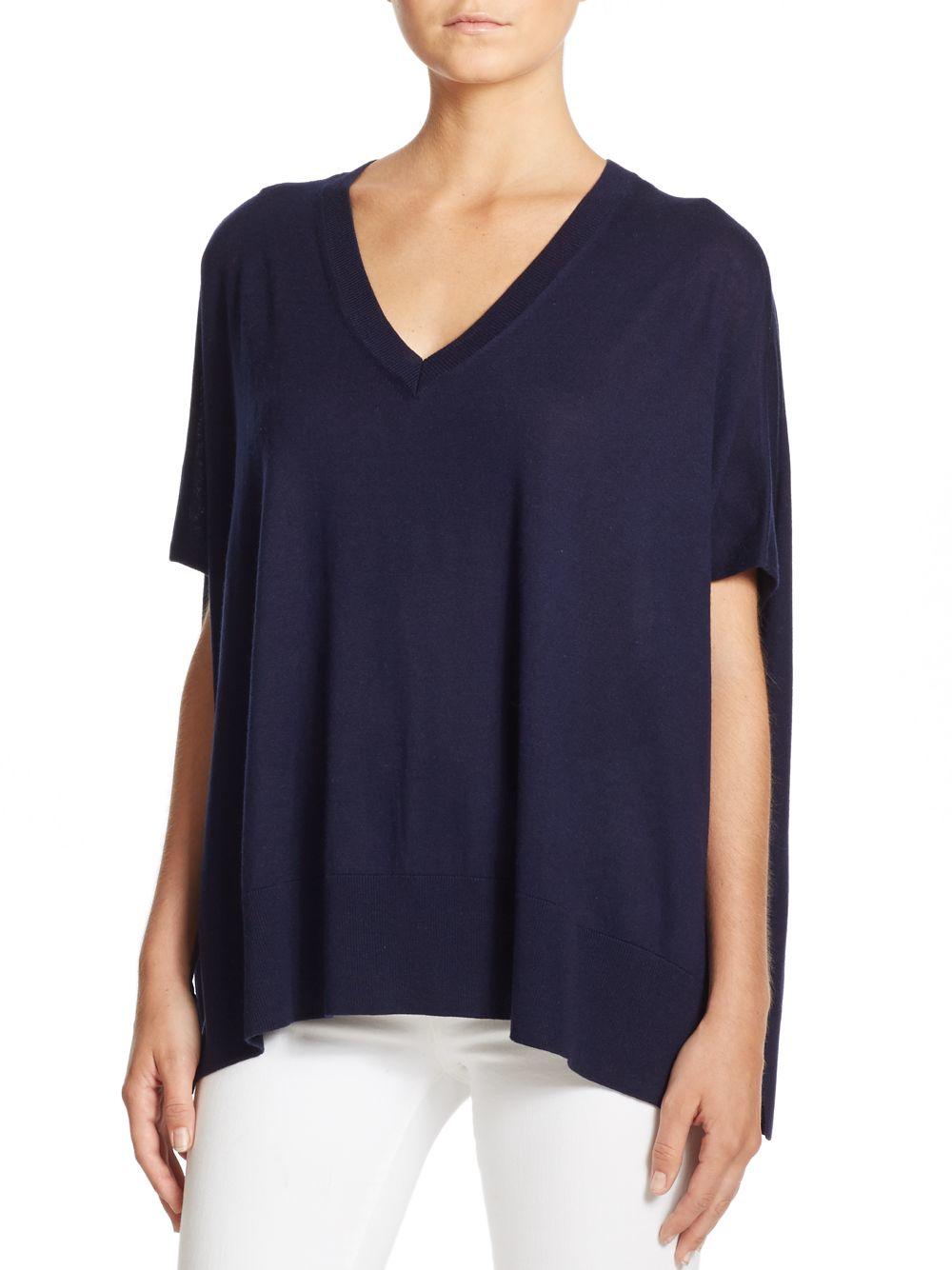 Diane von furstenberg Honey Silk & Cashmere Sweater in Blue | Lyst