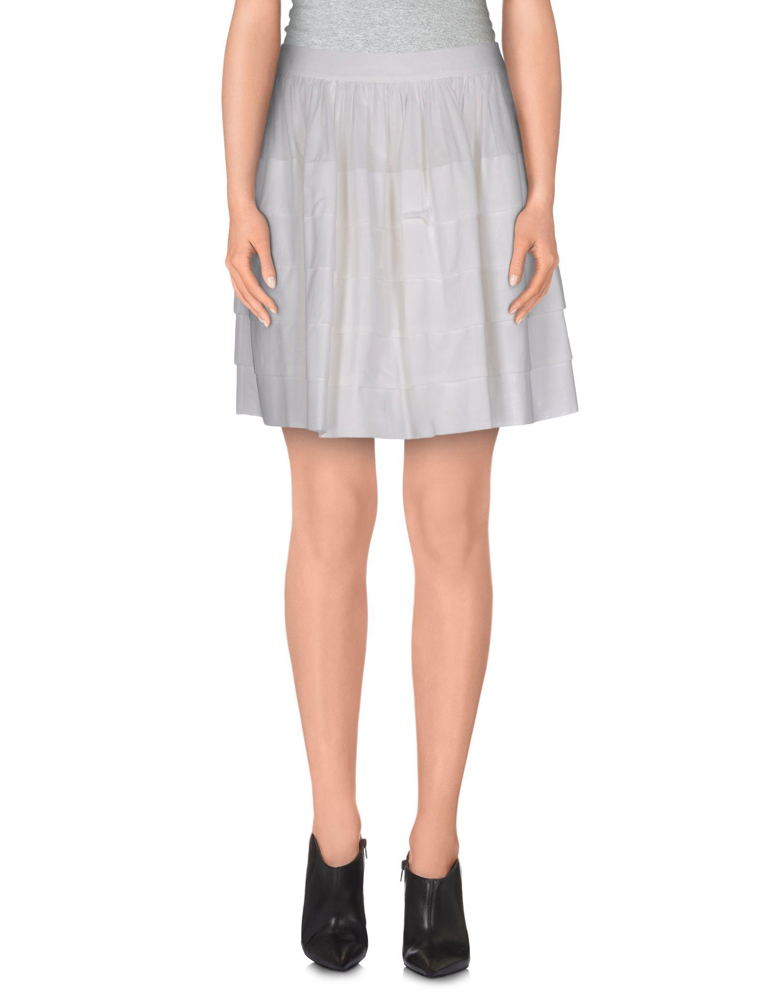 michael kors mini skirt in white save 75 lyst