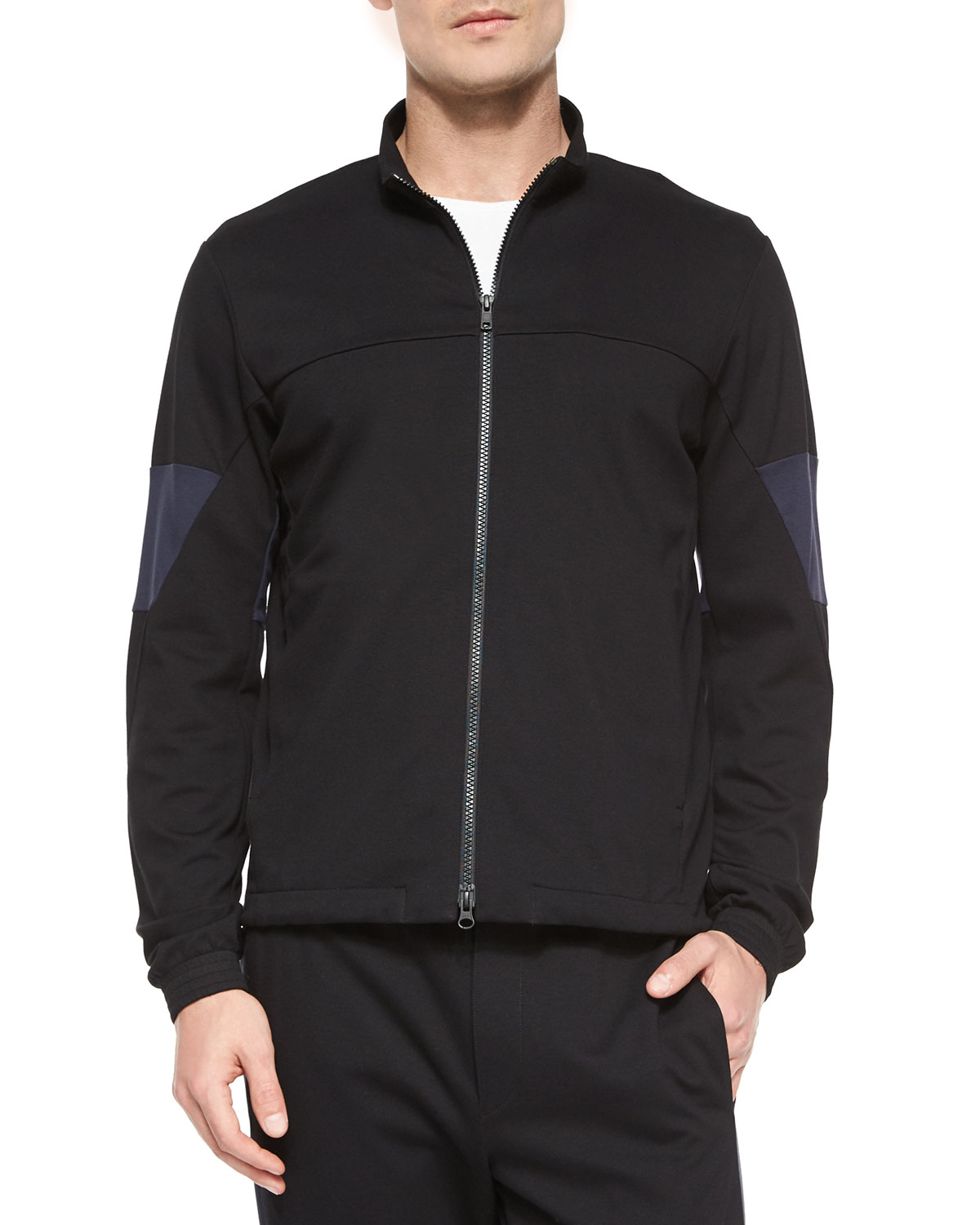 e0d3172b8835 Lyst - Theory Full-zip Track Jacket in Black for Men